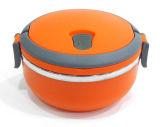L'acier inoxydable en forme ronde maintient une boîte à lunch chaude / un récipient de nourriture