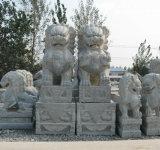 Hand geschnitzte Granit-Löwe-Skulptur-Tierstatue für Dekoration (CV005)