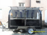 Carro móvil por encargo del alimento de la venta del bocado