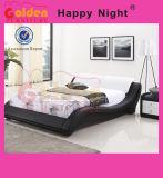 덮개를 씌운 가정 가구 왕 나무로 되는 침대는 G967를 디자인한다