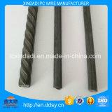 alambre de 6.25m m del hierro o del acero no aliado con las costillas espirales