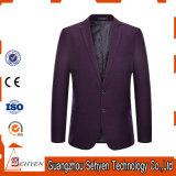 上のブランド最新のデザイン人のウールによって合われるスーツのジャケット