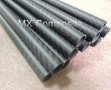 Tubo/tubo de la fibra del carbón del OEM 3k de la fuente