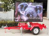 Plataforma Remolque pantalla a todo color cartel de publicidad y gestión del tráfico