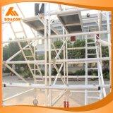 Aluminio andamio de la escalera del paso de progresión de la caída de 75 grados