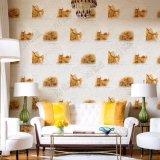 Papier peint de salle de séjour de PVC de modèle de mode du fond 3D de l'enduit TV de mur intérieur