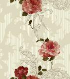 Decoração de parede interior Revestimento de parede Quarto Papel de parede de design de flores de PVC