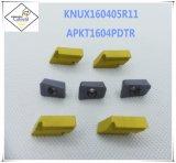 Cutoutil Apkt &#160 ; pour l'alternative en acier de la pièce de usinage de commande numérique par ordinateur de garniture intérieure de carbure de Mitsubishi
