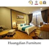 Cubierta de madera contrachapada de moderno diseño personalizado con chapa de madera Hotel Juego de muebles de dormitorio (HD450)