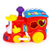 Kids Plastic Educational Respostas inteligentes Cartoon Train Baby Toy