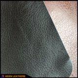 Cuir ignifuge d'unité centrale de synthétique des graines de Lychee pour le sofa faisant Hx-F1720