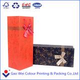 Saco de papel revestido Printable luxuoso para a caixa de empacotamento do vinho