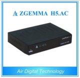 Luft-Digital-neuer Satellitenempfänger Zgemma H5. Wechselstrom-Doppelkern-Linux OS Enigma2 DVB-S+ATSC H. 265 zwei Tuners für Amerika/Mexiko