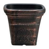 正方形のプラスチック植木鉢(KD4601S-KD4603S)