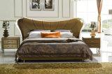 Het nieuwe Elegante Bed van het Leer van het Ontwerp Moderne Echte (HC1213) voor Slaapkamer