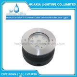 Luz subacuática inoxidable del acero IP68 18W 12V LED del precio de fábrica