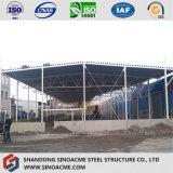 Magazzino prefabbricato della costruzione della fabbrica di industria della struttura d'acciaio