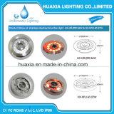 LED de alta potencia de acero inoxidable IP68, bajo el agua con boquilla de la luz de la fuente
