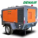 8 Bar Móvel Diesel Tipo de parafuso rotativo para Sand-Blasting do Compressor de Ar
