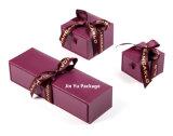 Пользовательский ящик люкс подарок украшения упаковочные ящики с шелковые ленты