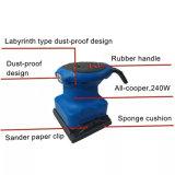 180W 110*100mm elektrische Sandpapierschleifmaschine mit Staubbeutel, patentiertes Produkt