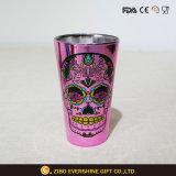 飲む飲料のための480mlステッカーカラー電気めっきのガラスコップ