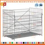Gaiola de aço galvanizada Stackable do armazenamento do engranzamento de fio da loja do armazém (Zhra8)