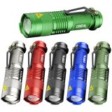 Q5 LED Mini Flashlight Torch 300 Lumens Focus Zoomable Light