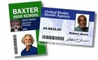 Scheda di plastica di identificazione per l'impiegato/allievo