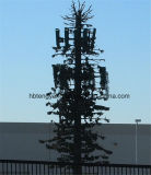 소나무 탑에 의하여 위장되는 나무 탑 강철 Monopole 안테나 탑