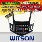 Coche DVD GPS del androide 5.1 de Witson para Chevrolet Cruze 2014 con el soporte del Internet DVR de la ROM WiFi 3G del chipset 1080P 16g (A5526)