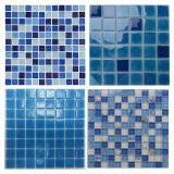 수영풀 모자이크, 수영풀을%s 파란 유리제 모자이크, 수정같은 유리 모자이크