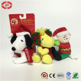 Les enfants de cadeau de Noël partout Clip chien assis jouet en peluche de séance