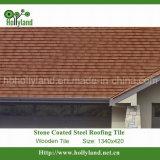 Металлические миниатюры на крыше с каменными стружки с покрытием (деревянной мозаики)