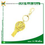Formato de chave do carro de metal personalizado unidade Flash USB