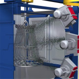 El bastidor parte la máquina de anzuelo del chorreo con granalla de la rueda