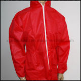 熱い販売の使い捨て可能な非編まれたポリプロピレンのつなぎ服、白い保護つなぎ服