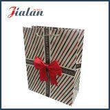 """"""" Présent pour vous """" avec le sac de papier de cadeau de transporteur d'achats de Bowknot"""
