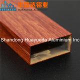 Espulsione di alluminio di profilo del grano della pittura del legno di trasferimento per il portello e la finestra di alluminio di vetro