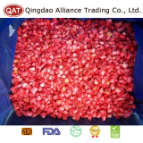 Gefrorene hochwertige Erdbeere exportierend, würfelt