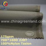 織物のジャケット(GLLML261)のためのTaslon明白な染まるナイロン防水ファブリック