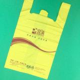 HDPE gedruckte weiße Shirt-Beutel-Einkaufstasche, die Beutel packt