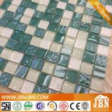 Mosaico di vetro, azzurro, Brown, colore nero, parete e pavimento (G823042)
