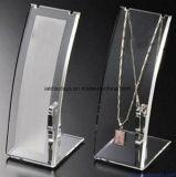Étalage acrylique clair fait sur commande de bijou de bijou