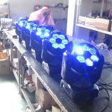 6PCS 15Wの蜂の目のズームレンズ小型LEDの移動ヘッドビーム