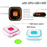 Кнопка Sos персональных GPS Tracker с Fall Down Сигнал V28