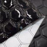 Couro de couro sintético do sofá do saco do plutônio do falso do bordado para a decoração
