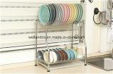 DIY Chrome Metal Plate Dish Drainer Rack com design de patente