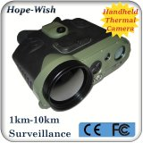 De handbediende Infrarode Thermische Binoculaire Camera van het Toezicht met GPS Lrf van 5km