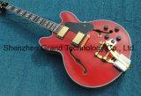 E335 jazz archtop guitare électrique avec Bigsby Golden Bridge en rouge (TJ-302)